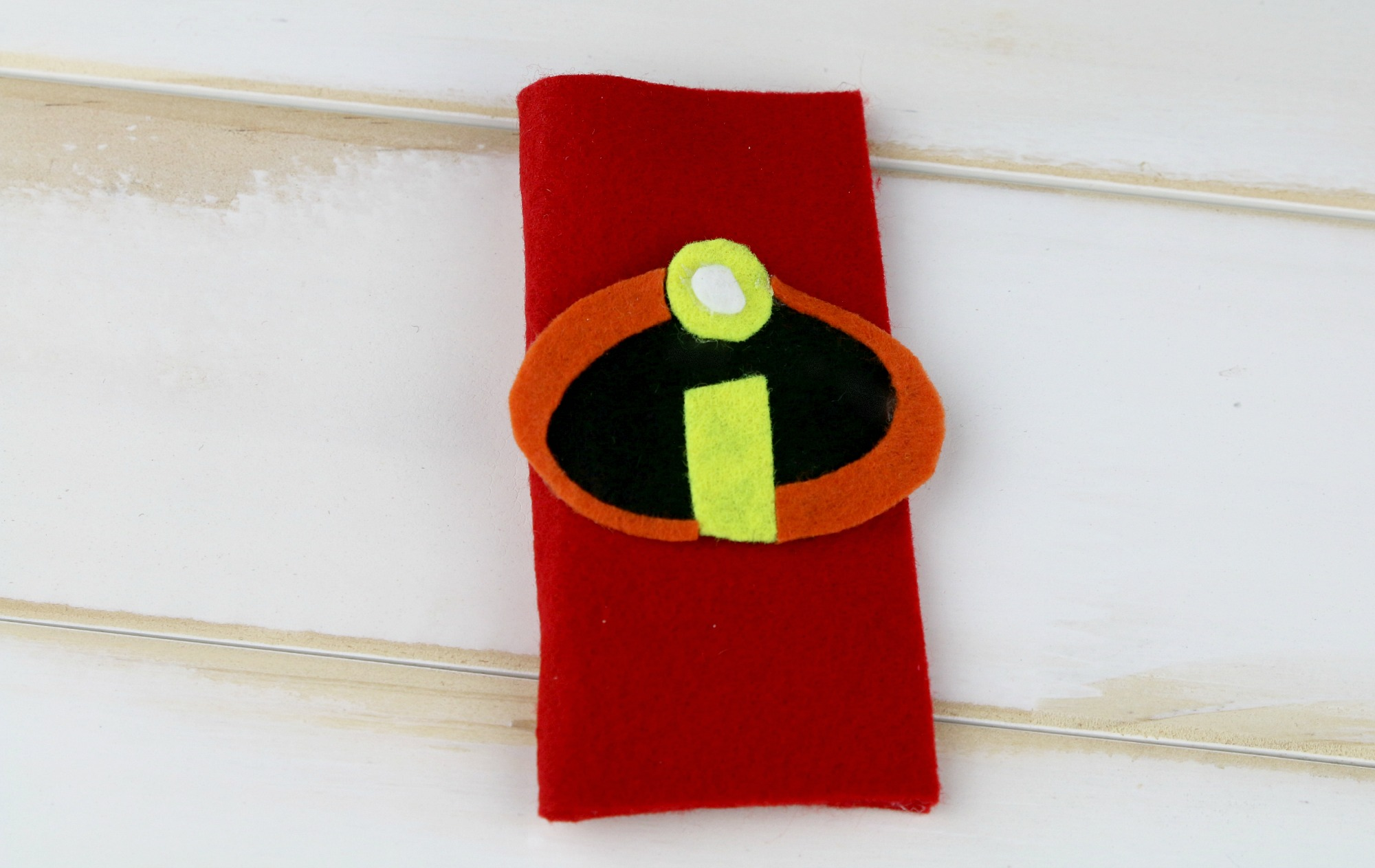 incredibles felt popsicle holder