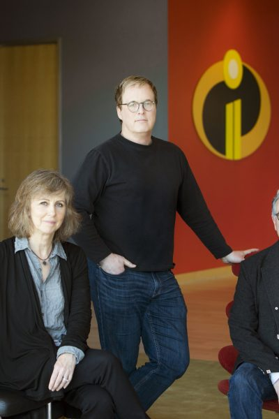 Director Brad Bird with Producers John Walker & Nicole Grindle