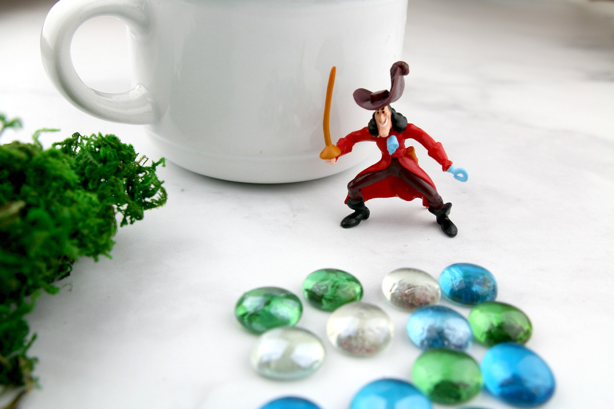 Captain Hook teacup garden