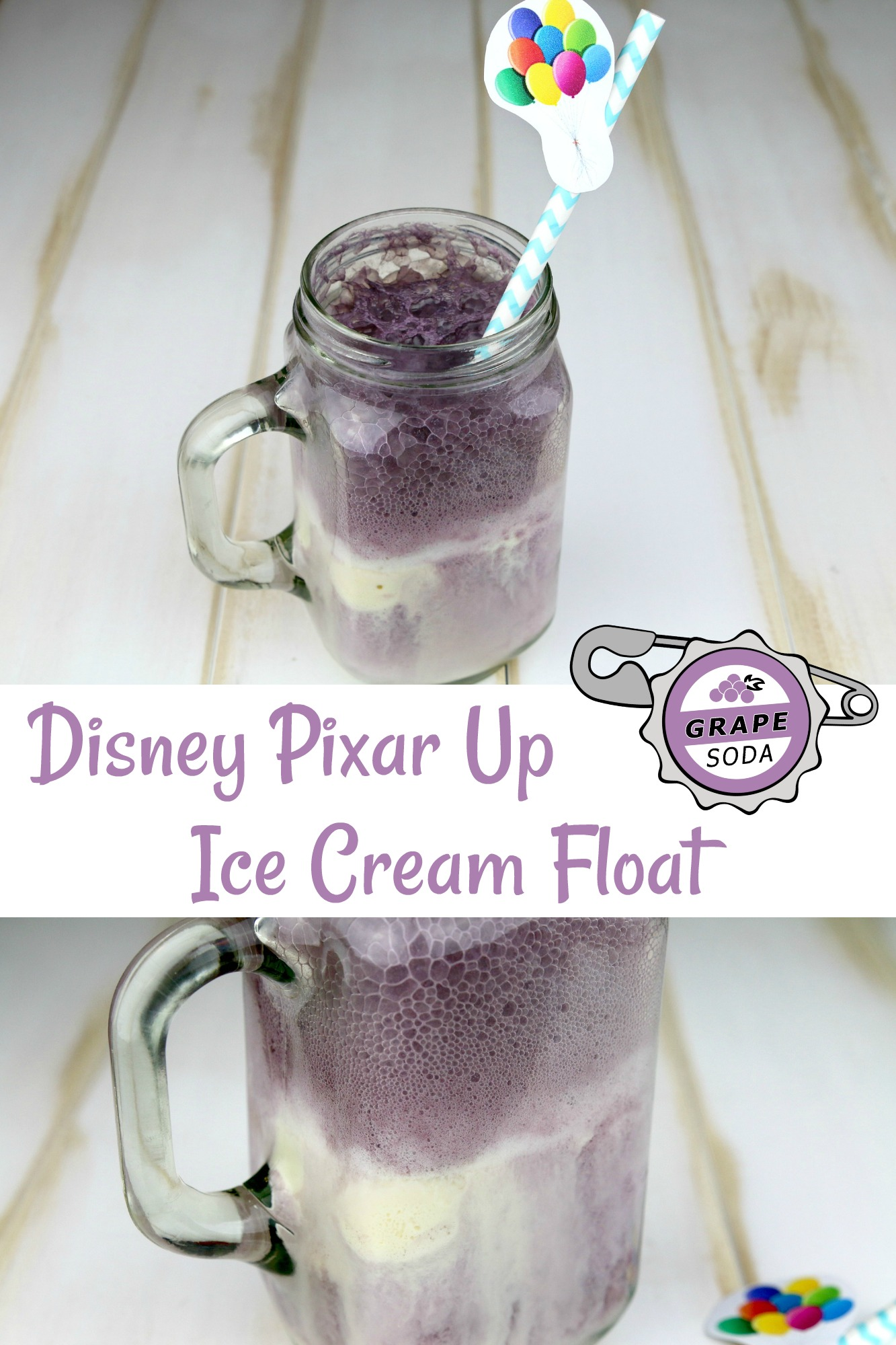 Disney Pixar Up Grape Soda Ice Cream Float