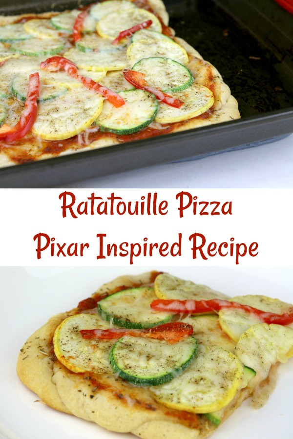 Homemade Ratatouille Pizza Recipe - #PixarFest