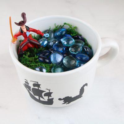 Captain Hook Teacup Garden – Dollar Store DIY + Peter Pan Digital HD Release