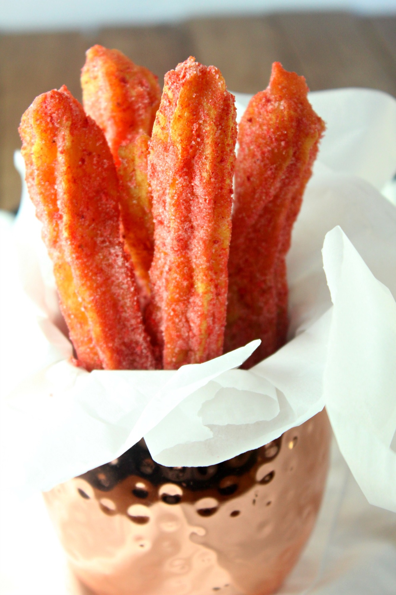 gluten free strawberry churros