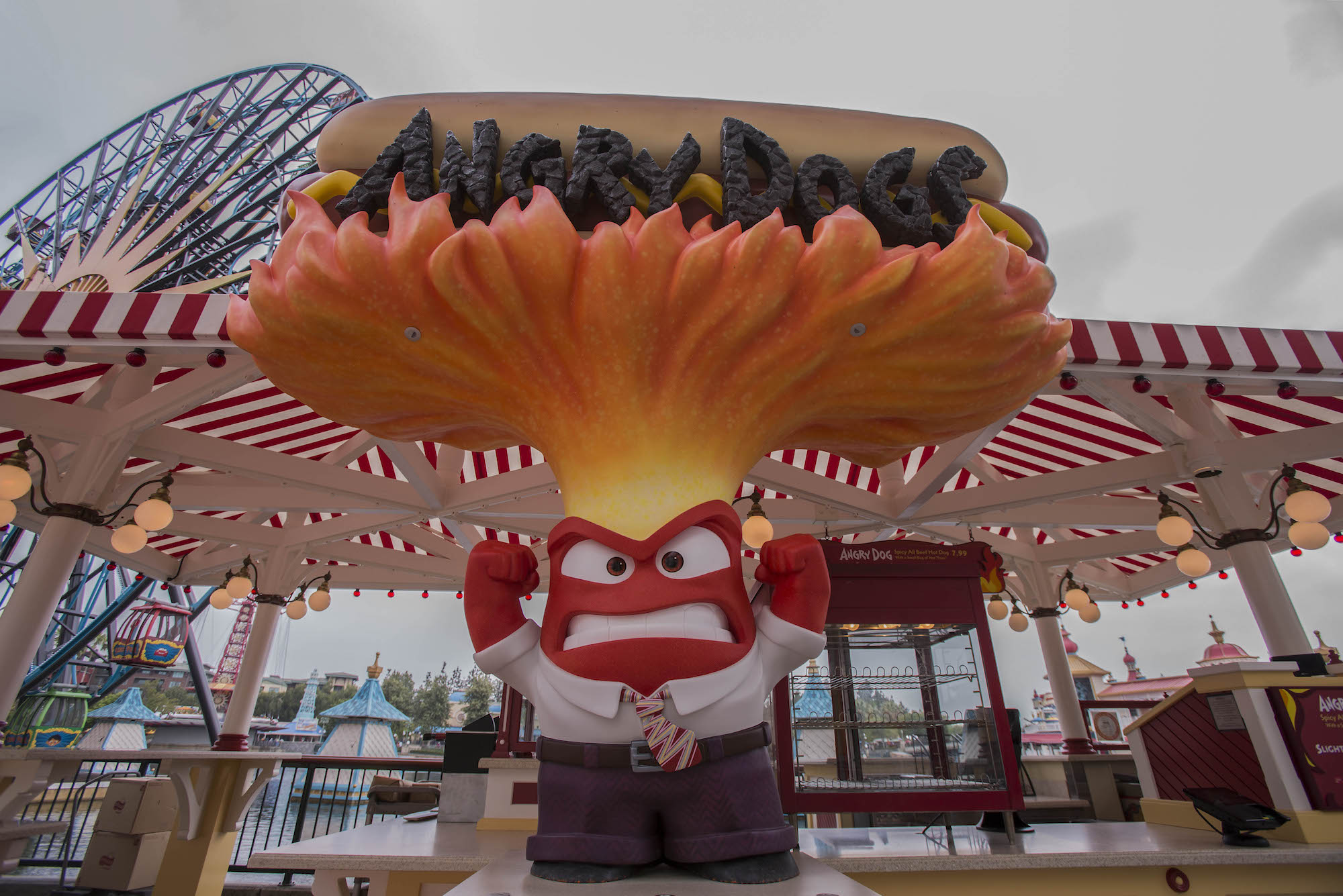 Inside Out Angry Dogs at Pixar Pier