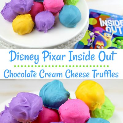 Disney Pixar Inside Out Chocolate Cream Cheese Truffles