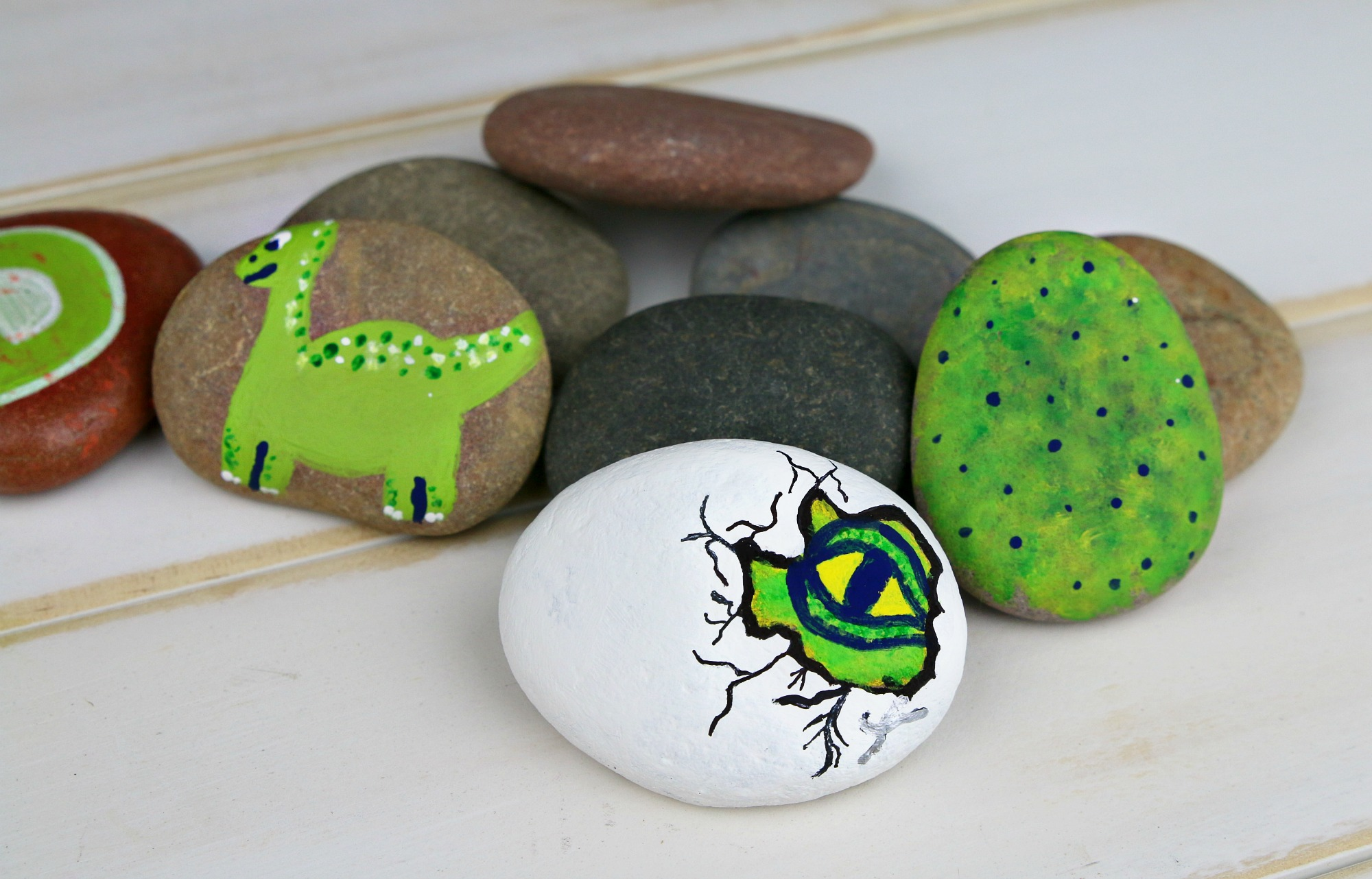 Dinosaur Eye Rock Painting