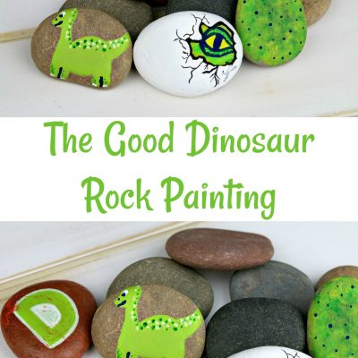 The Good Dinosaur Rock Painting Craft – #PixarFest