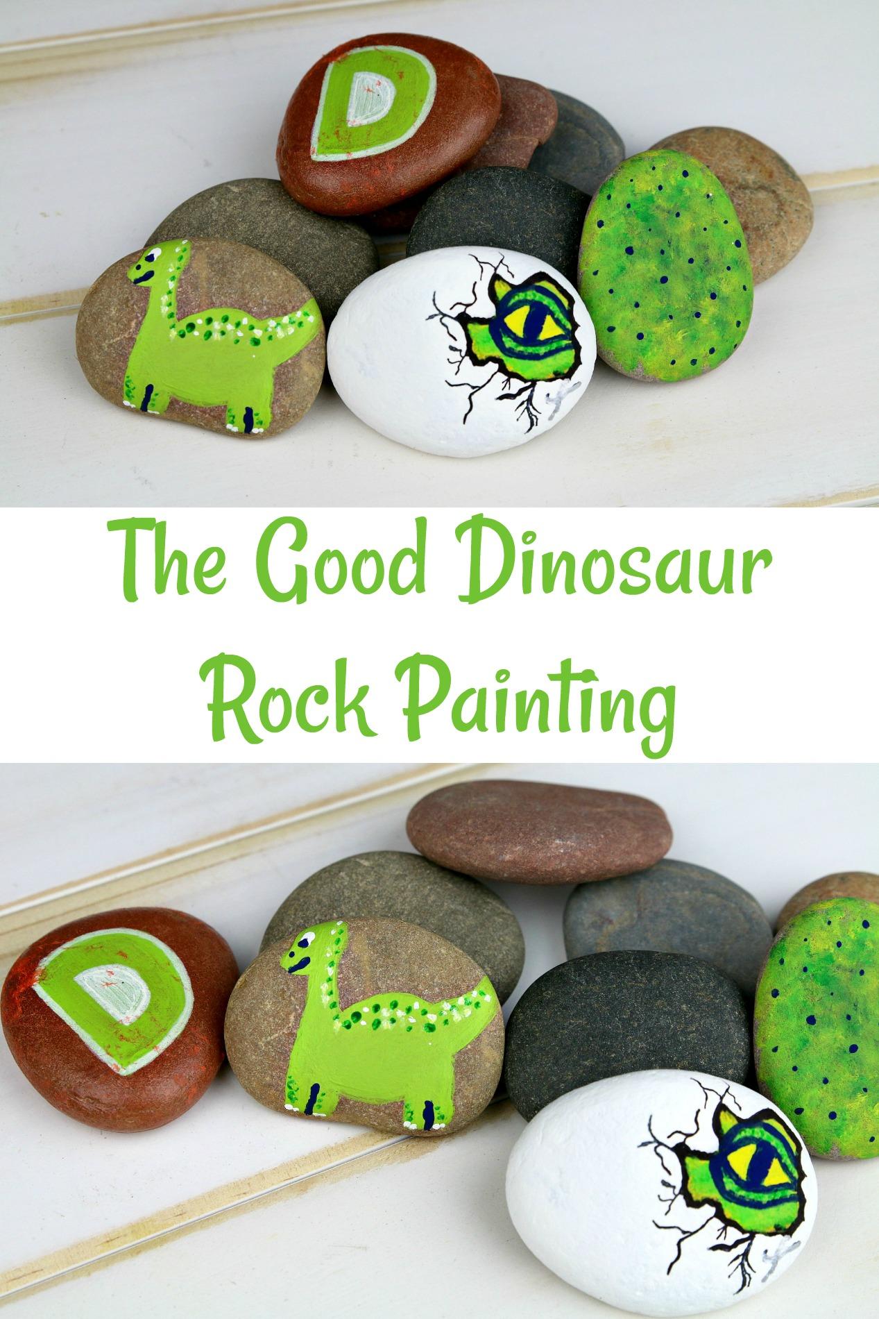 Disney Pixar The Good Dinosaur Rock Painting