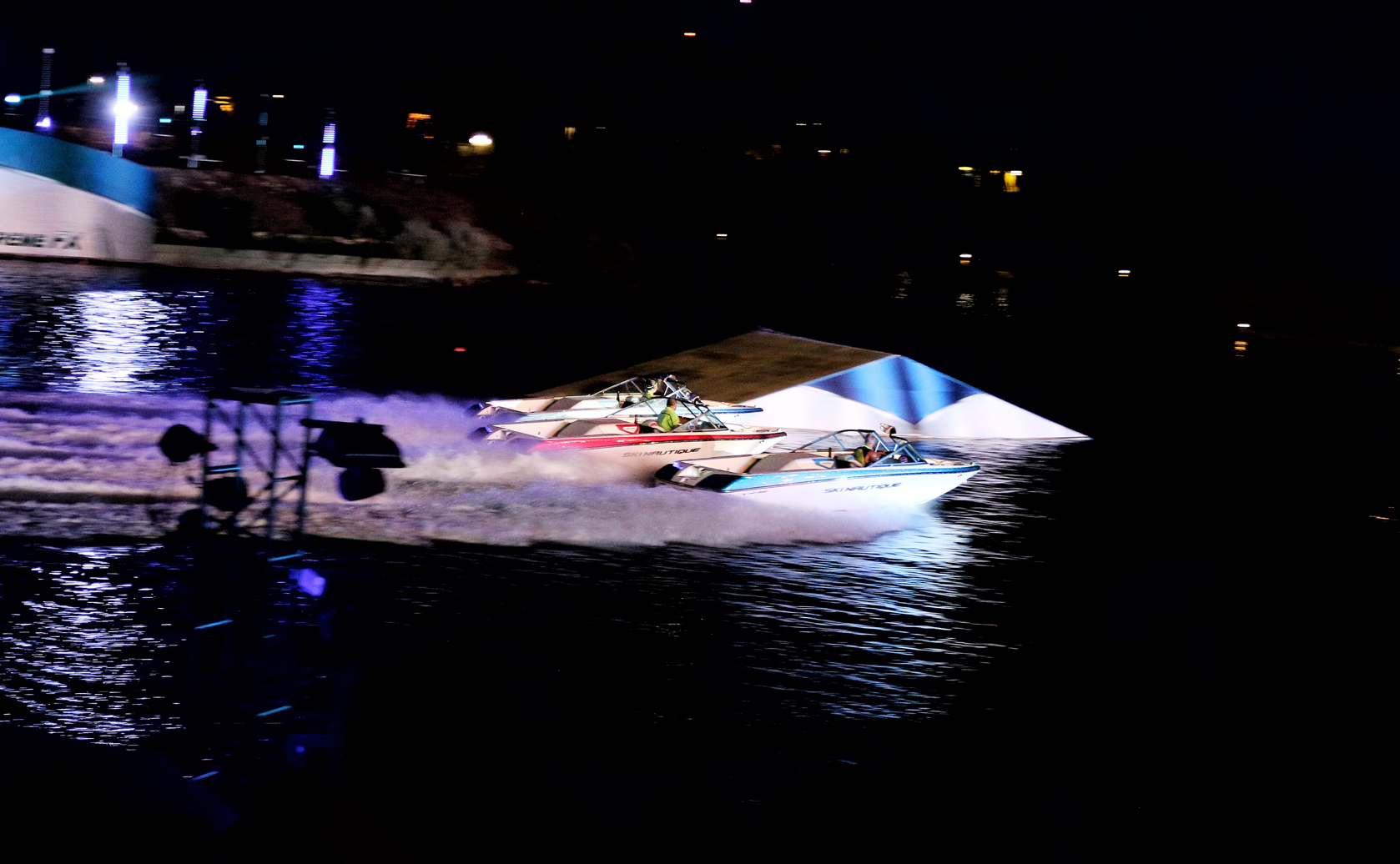 water skiing show at SeaWorld