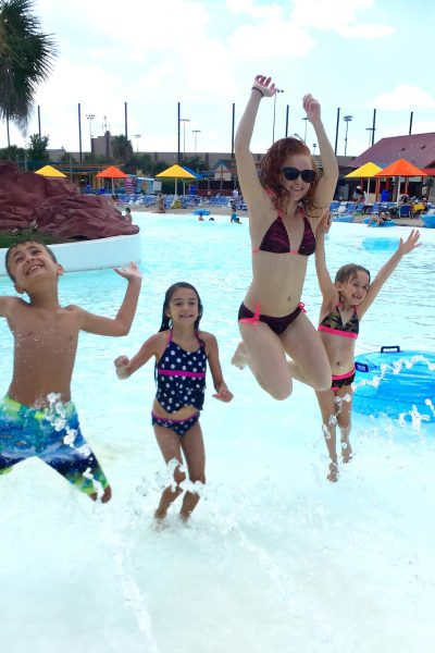 Jumping at Hawaiian Falls waterpark