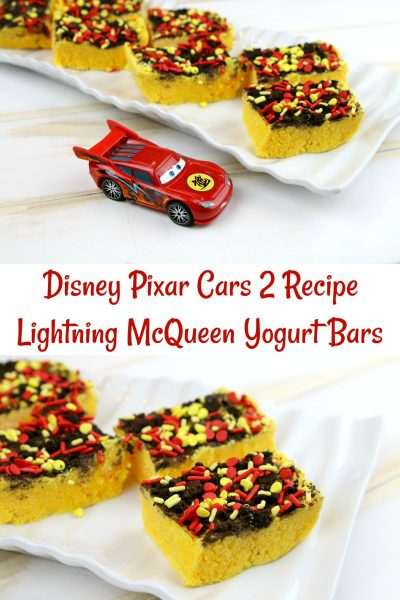 Lightning McQueen Yogurt Bars Recipe