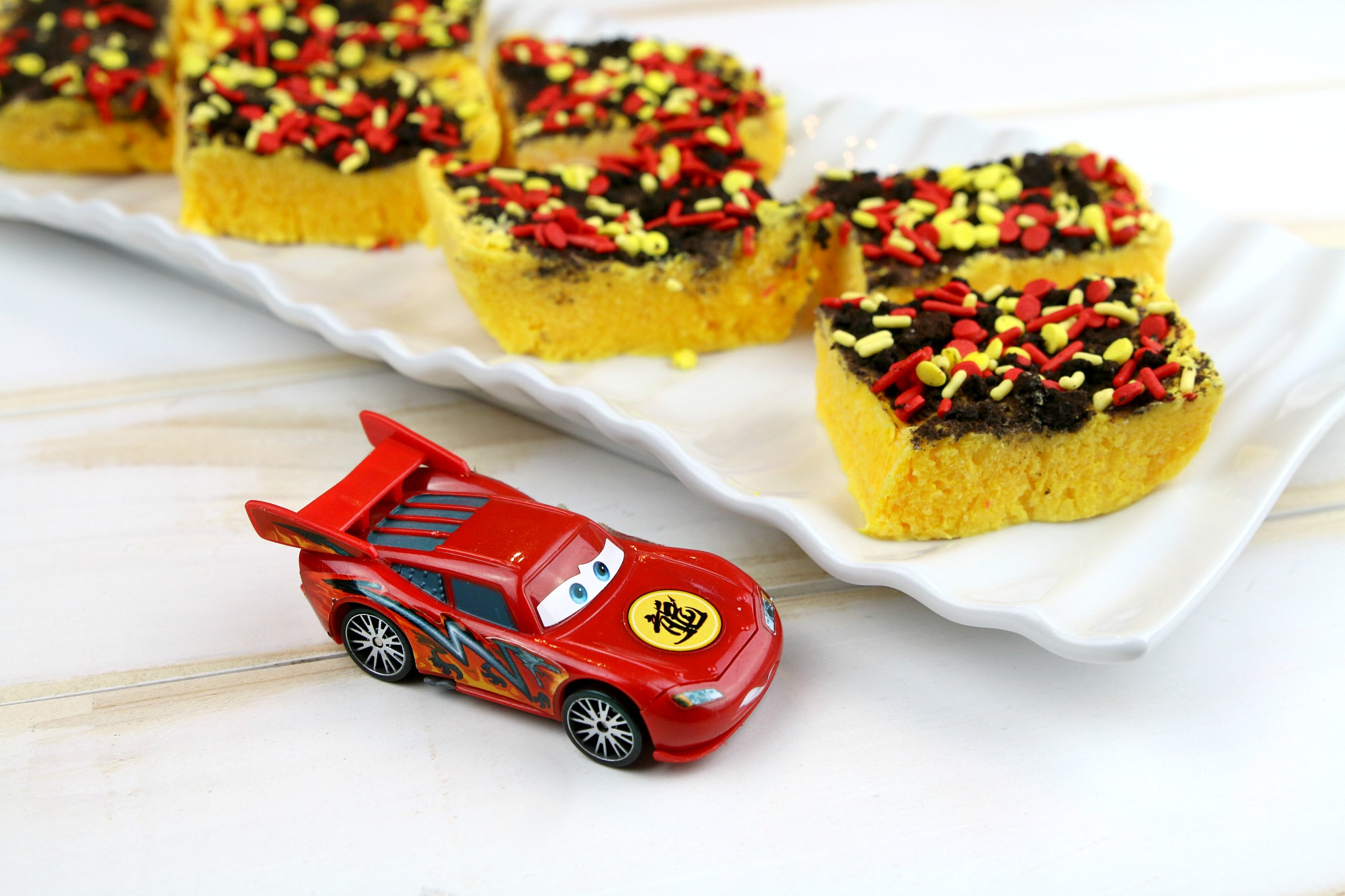 Lightning McQueen Yogurt Bars