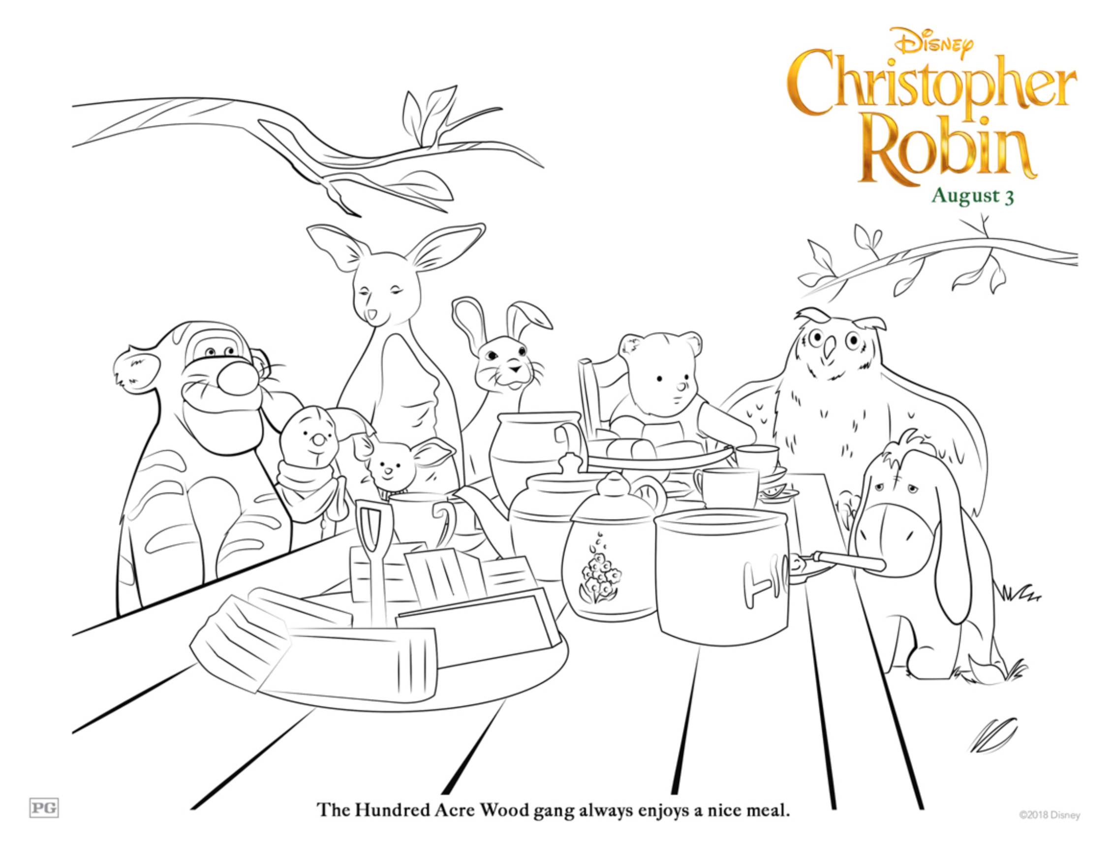 Free Printable Disney Christopher Robin Coloring Pages Life