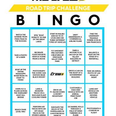 Xbox One: The Crew 2 – Road Trip BINGO Challenge