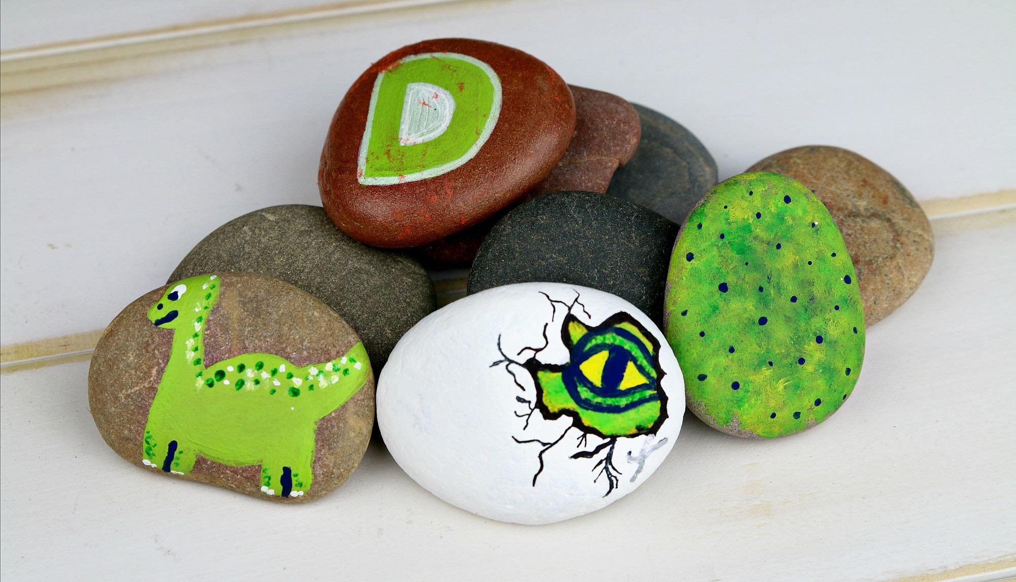 The Good Dinosaur Rock Painting
