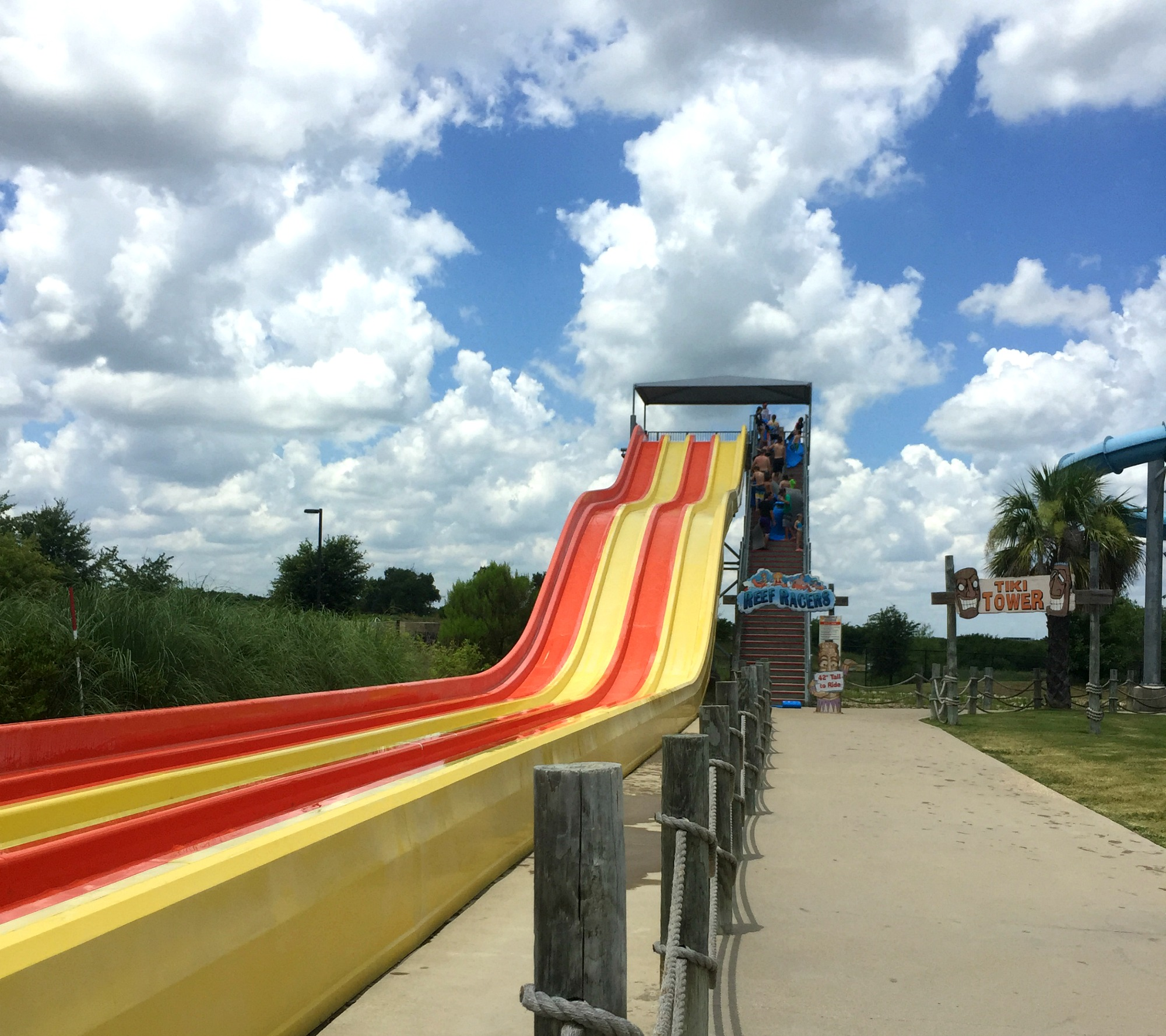 waterslide at Hawaiian Falls