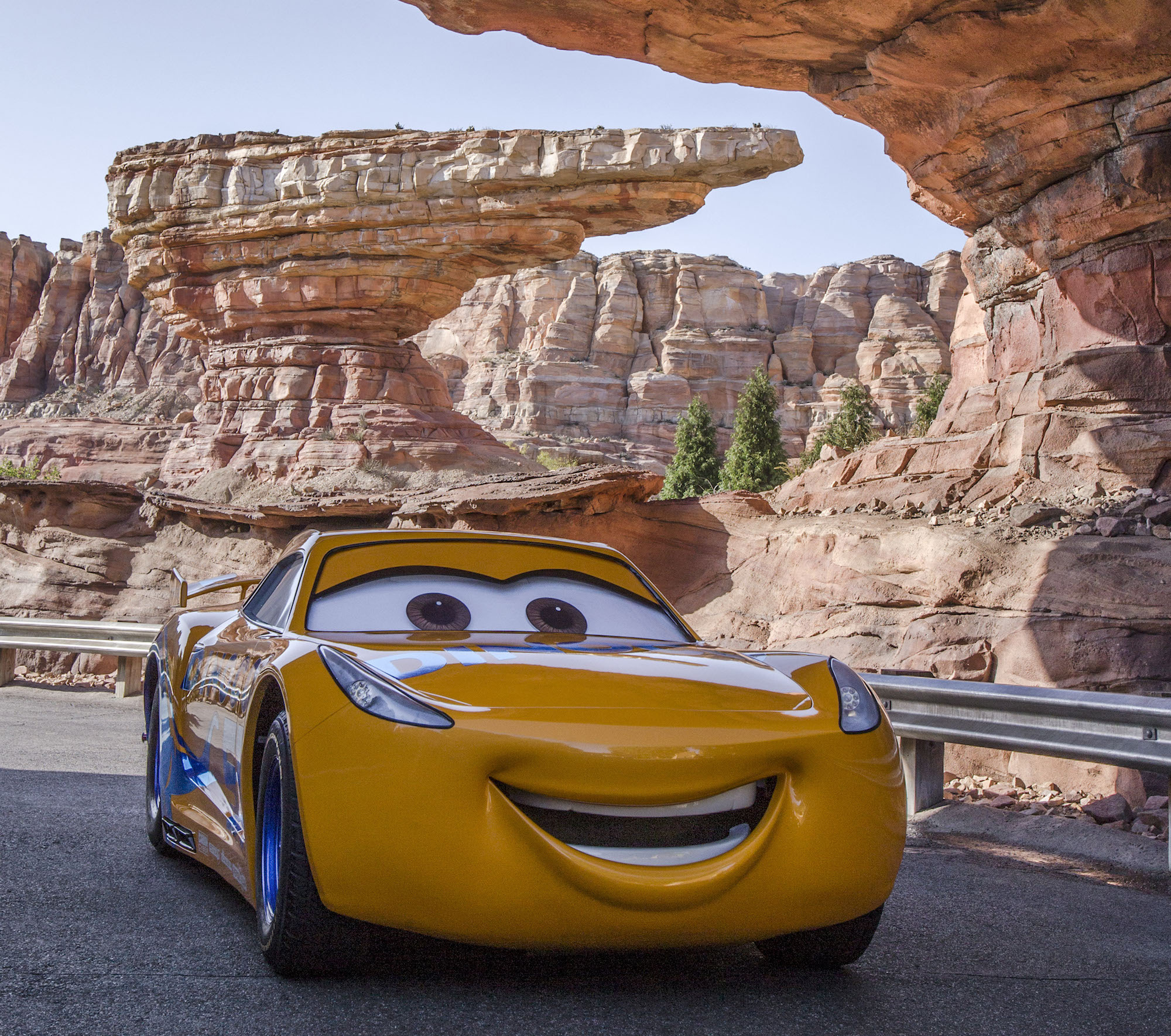 Cruz Ramirez at Disneyland in Cars Land