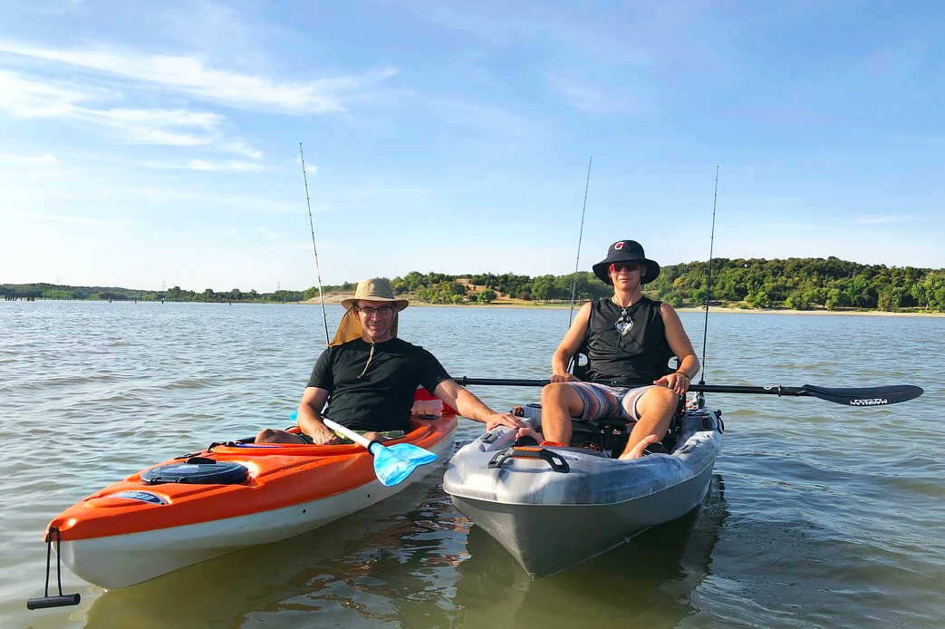 boys fishing from kayak - 4-h wellness 360º