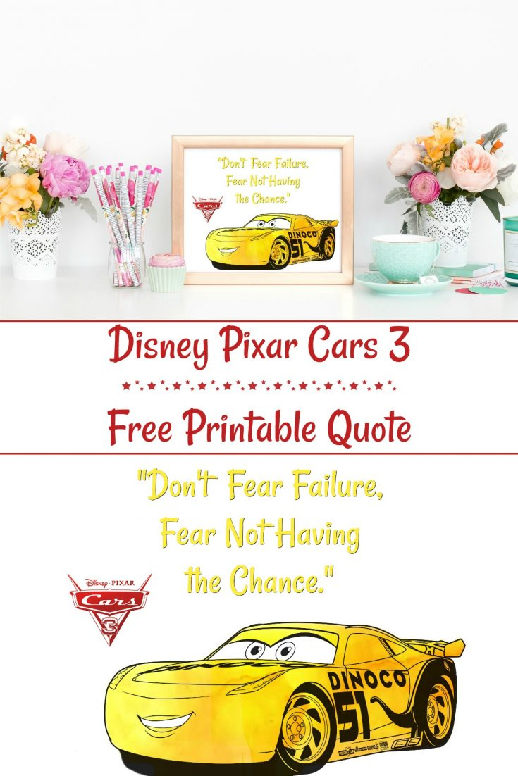 Disney Pixar Cars 3 Quote Printable