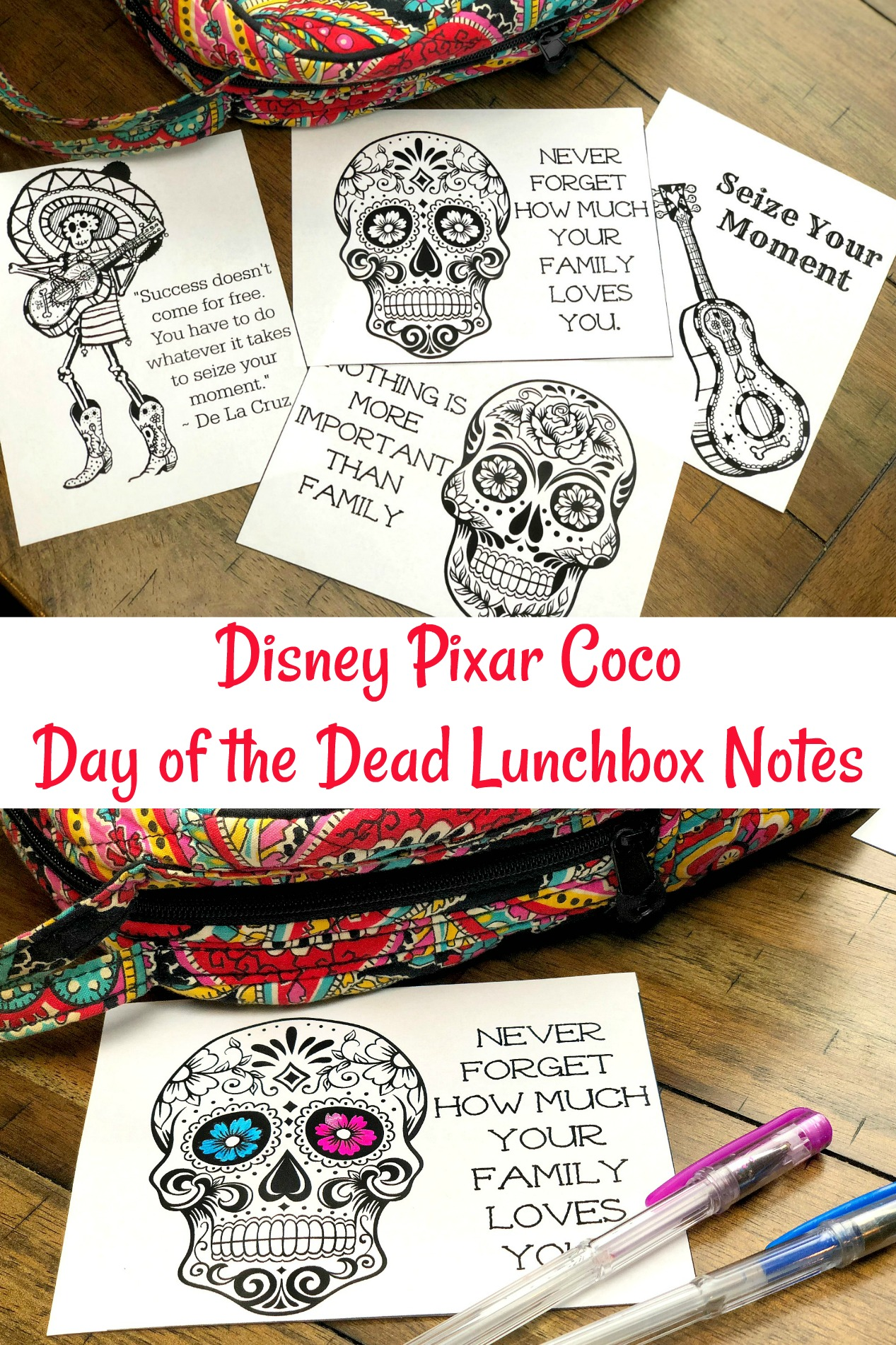 Disney Pixar Coco Lunchbox Notes-2
