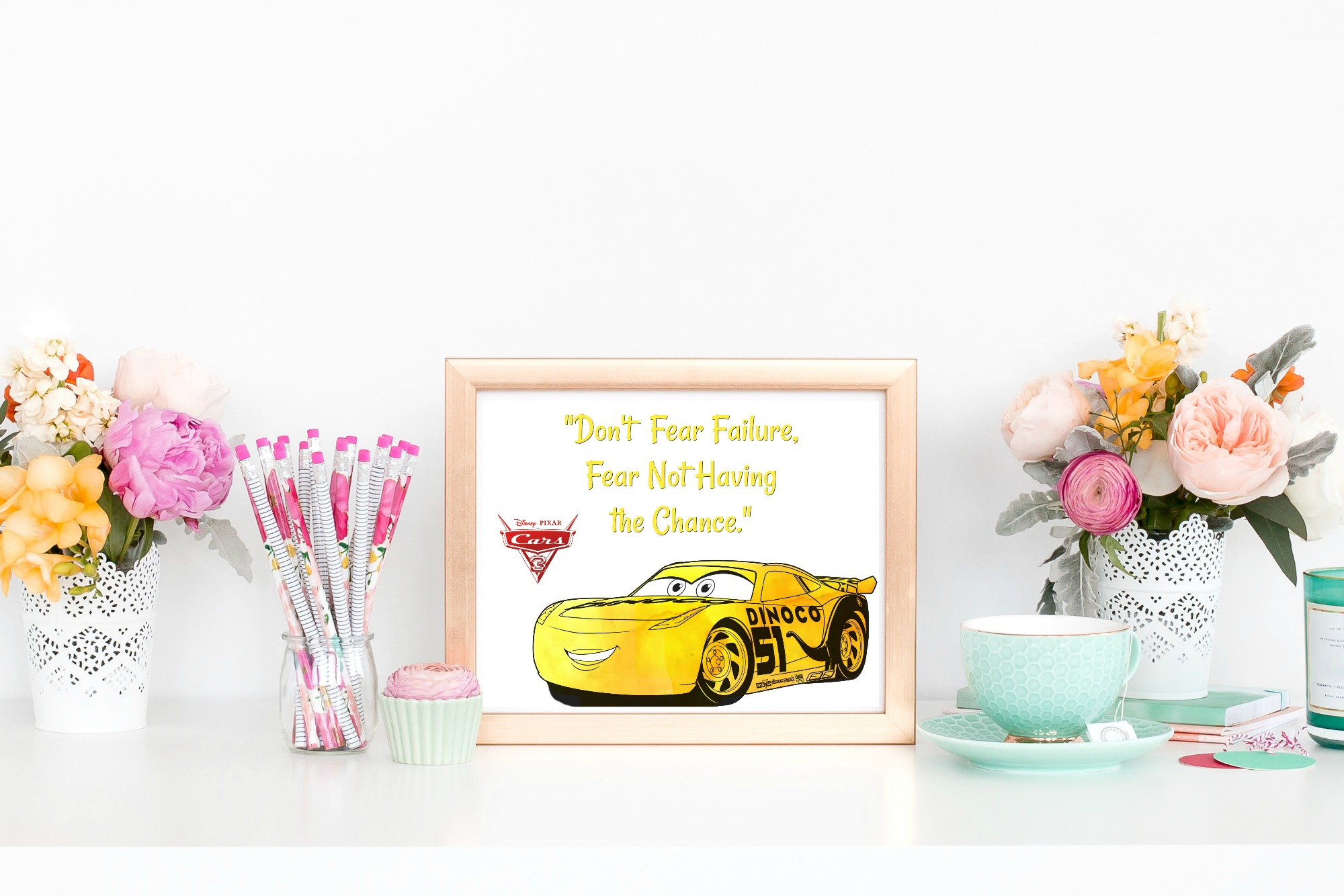 Free Printable Disney Pixar Cars 3 Quote