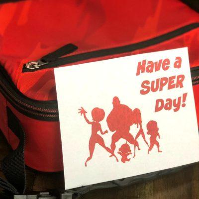 Free printable Disney Pixar Incredibles lunchbox note
