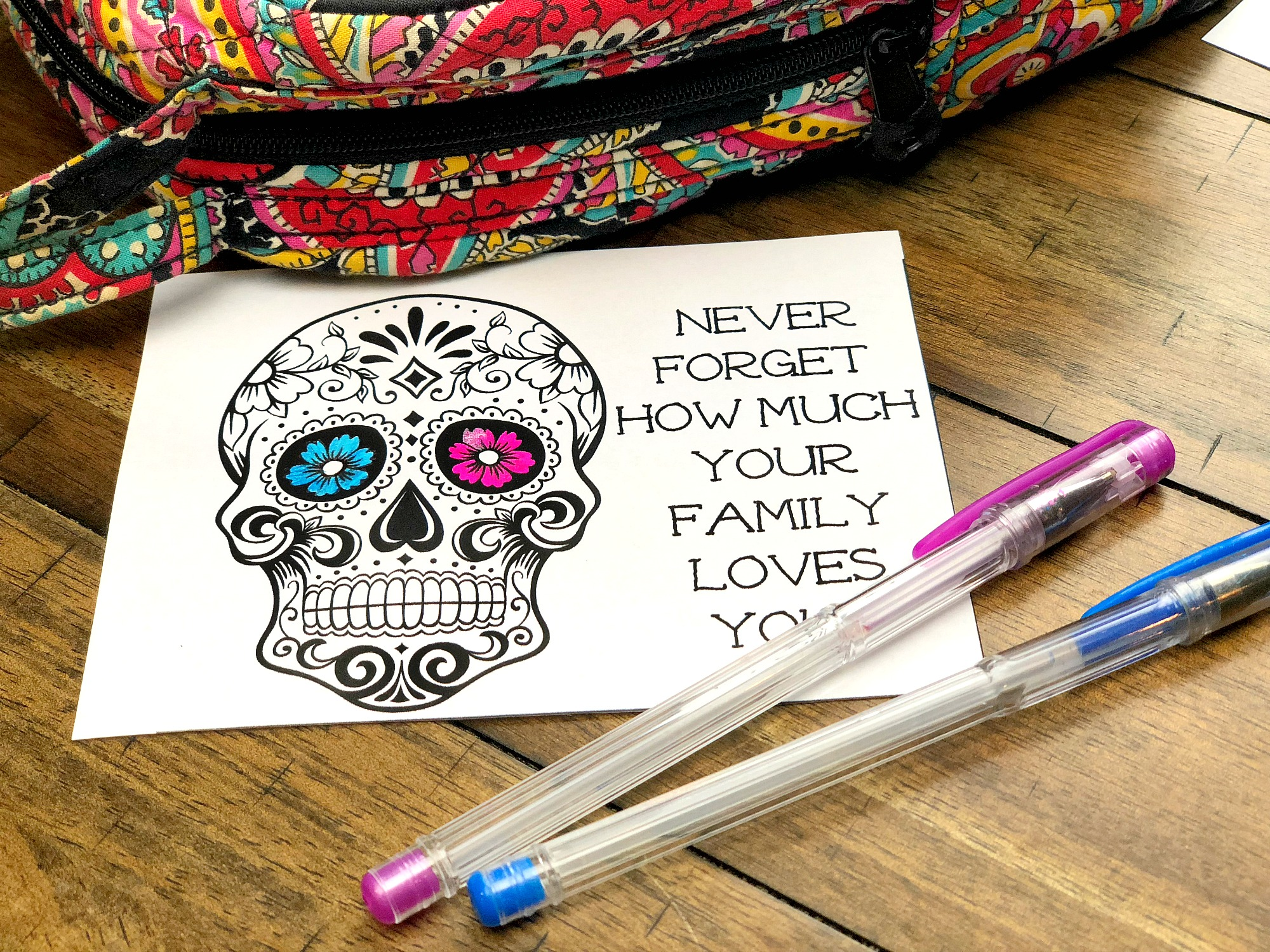 coloring lunchbox notes