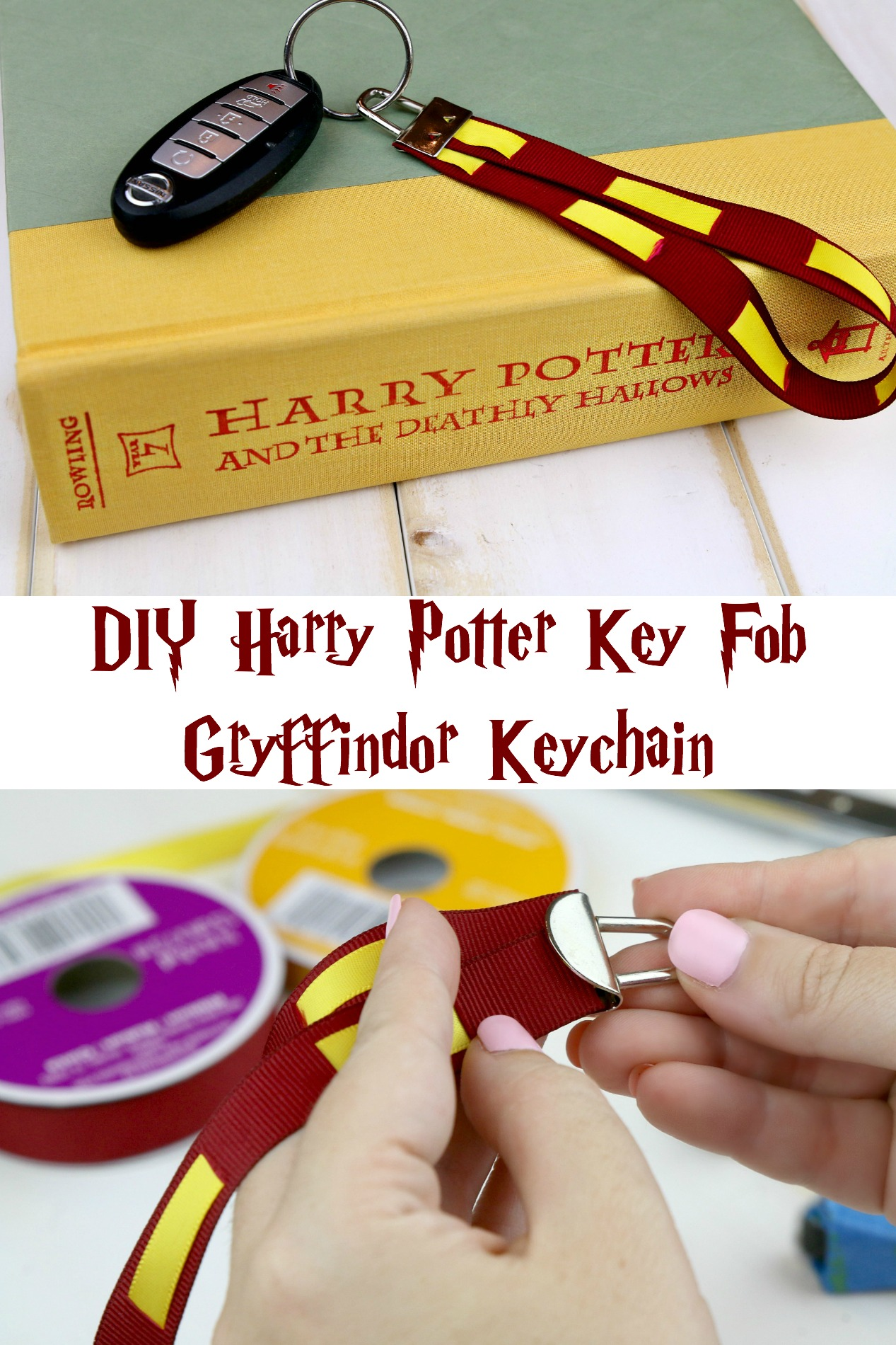 DIY Harry Potter Key Fob - Gryffindor Keychain