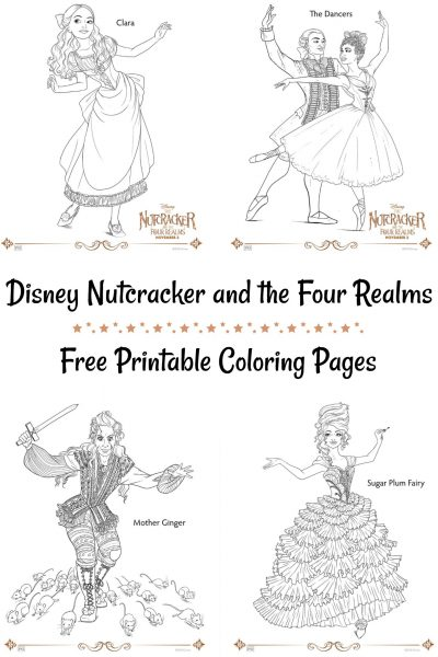 Disney Nutcracker and the Four Realms Coloring Pages
