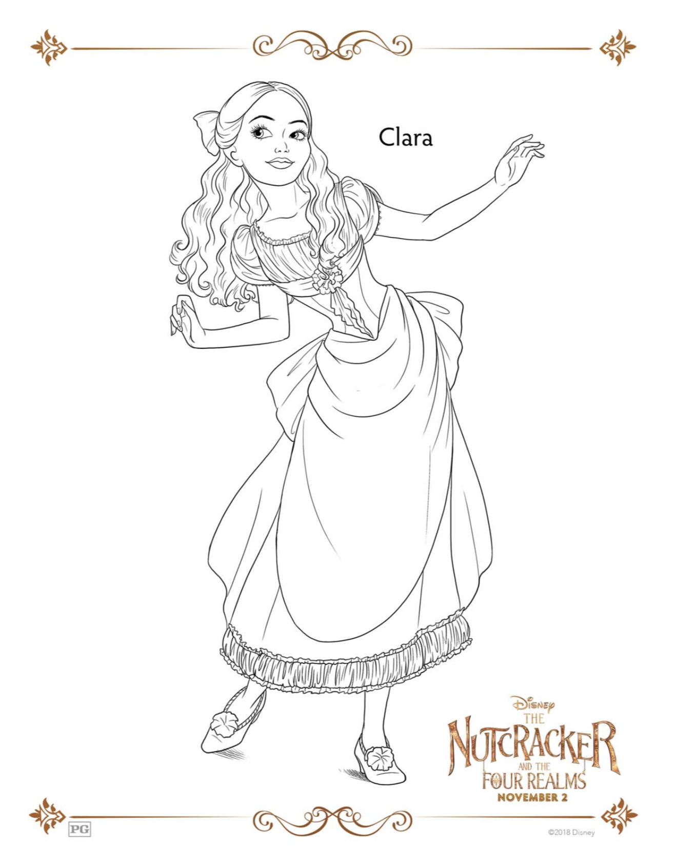 Clara from the Nutcracker coloring page