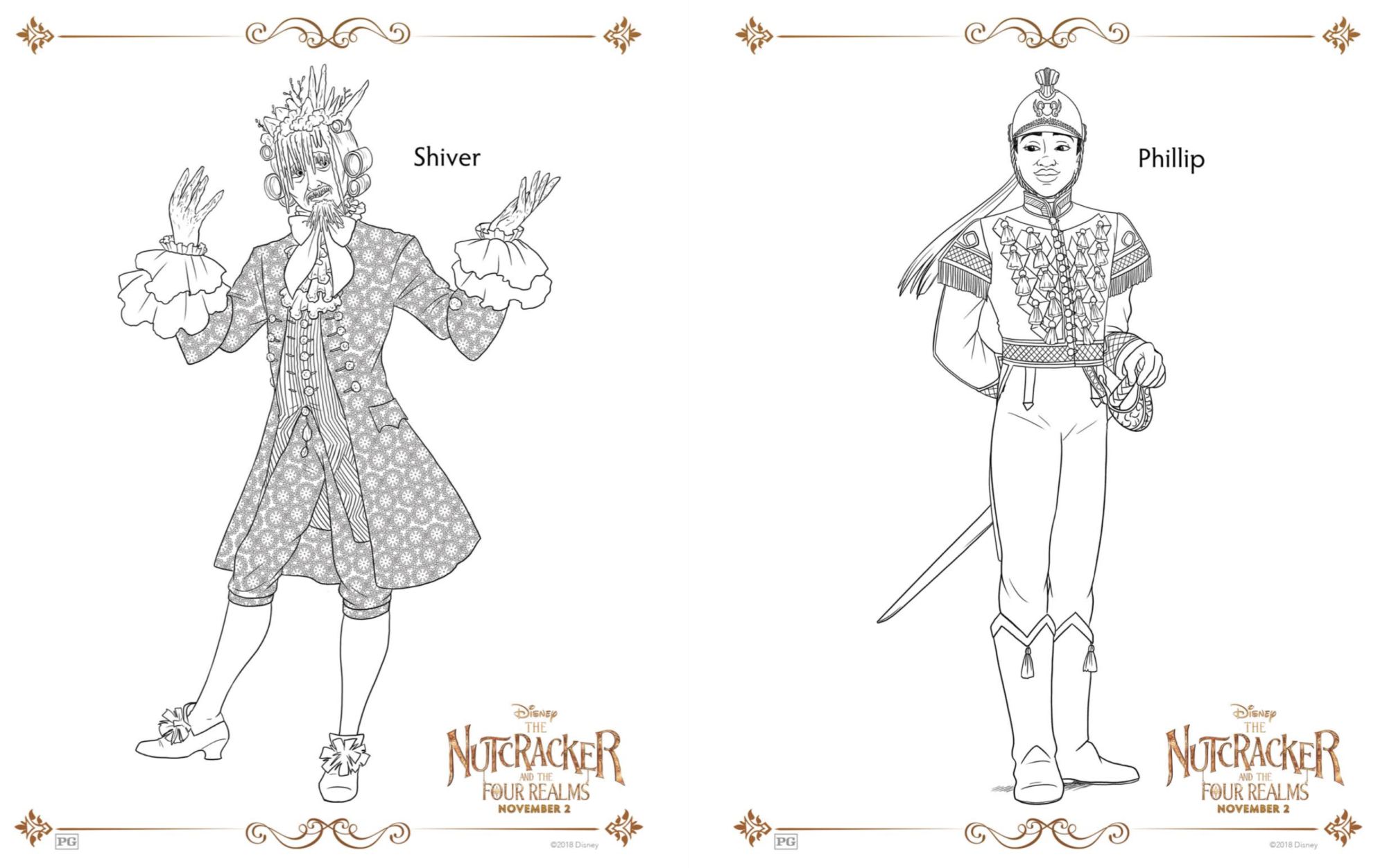 Disney printable Nutcracker coloring pages