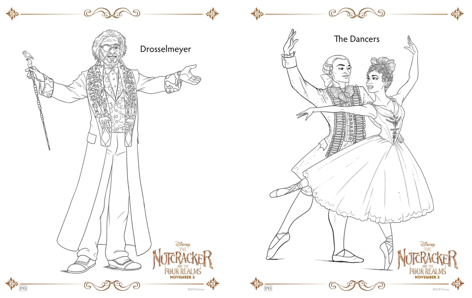 Disney Nutcracker and the Four Realms free printable coloring pages