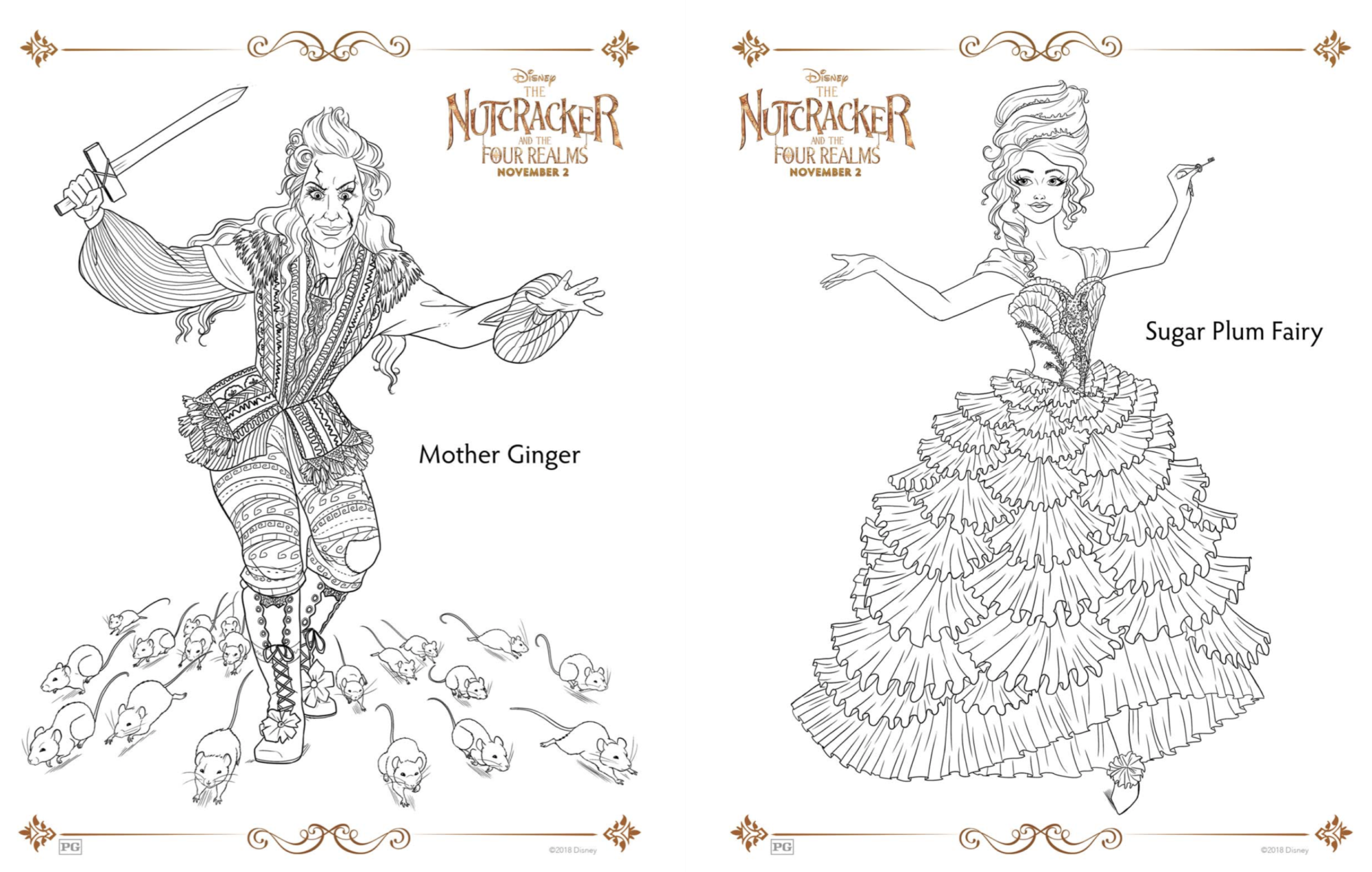 Disney Nutcracker coloring pages