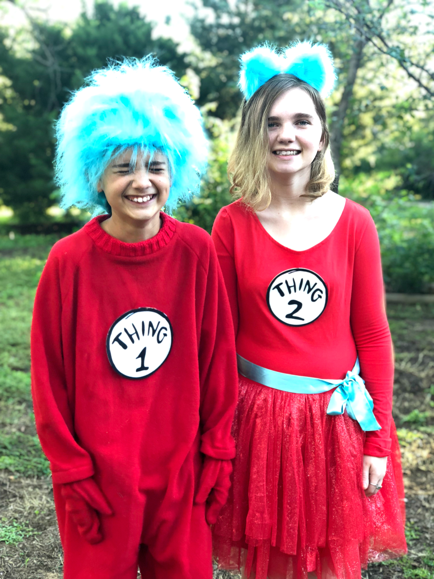 Thing 1 and Thing 2 laughing