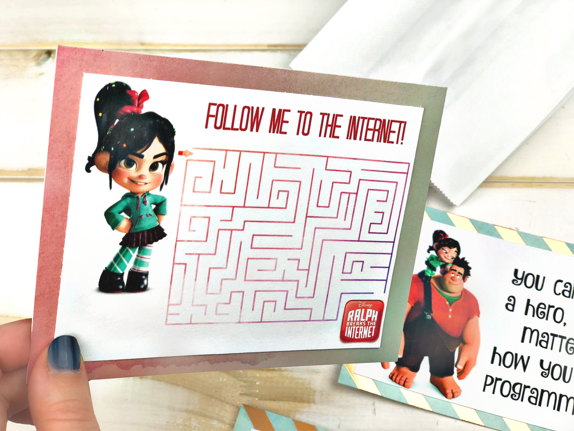 Vanellope Lunchbox Note