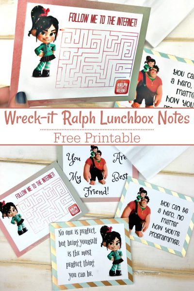 Wreck-it Ralph Breaks the Internet Lunchbox Notes