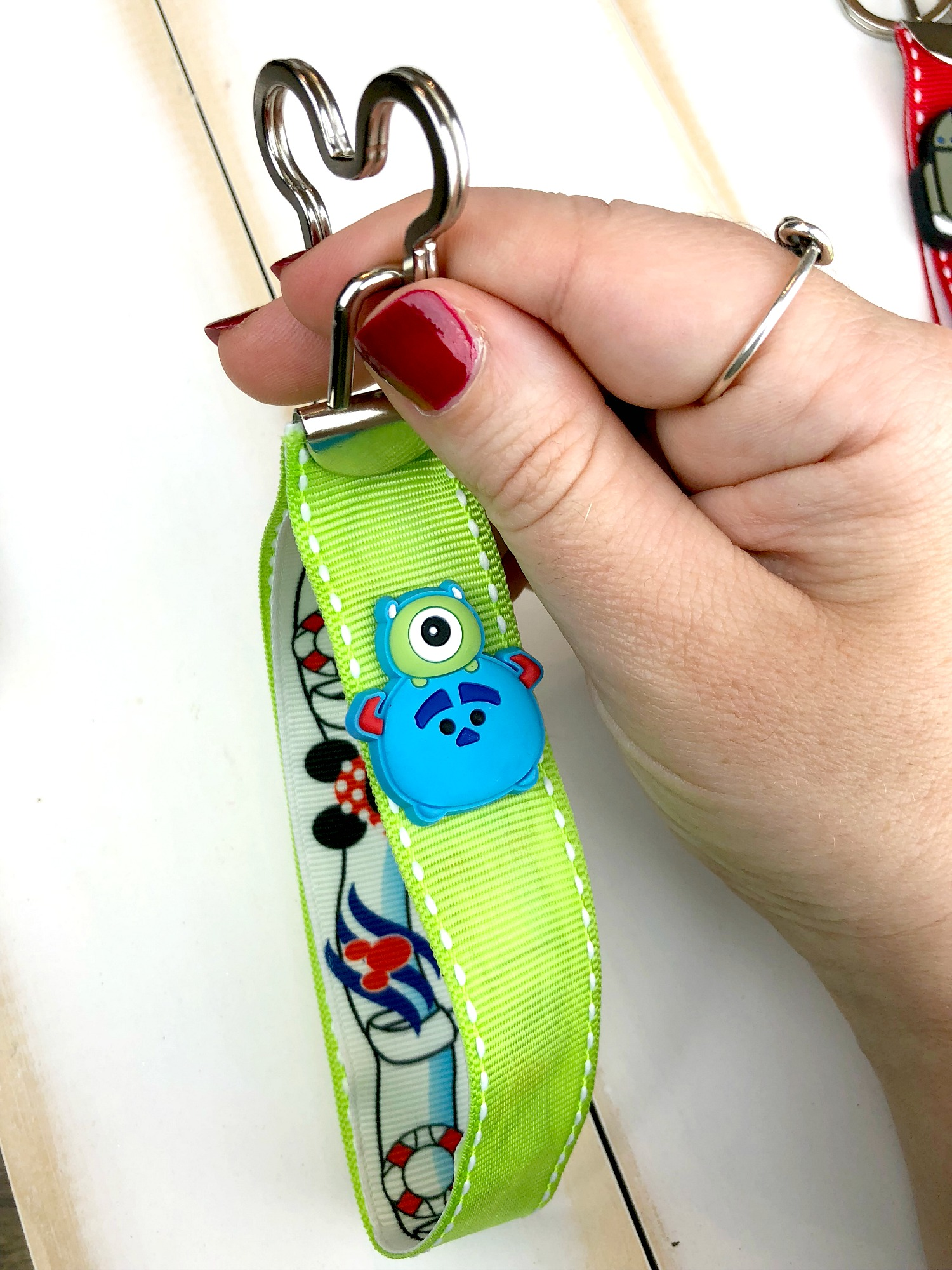 DIY No-Sew Disney Key Fob