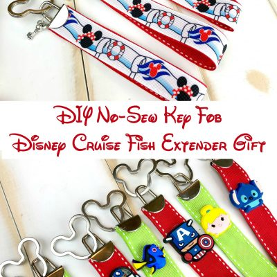 DIY No-Sew Key Fob – Disney Cruise Fish Extender Gift
