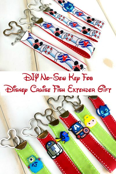 DIY No-Sew Key Fob Disney Cruise Fish Extender Gift