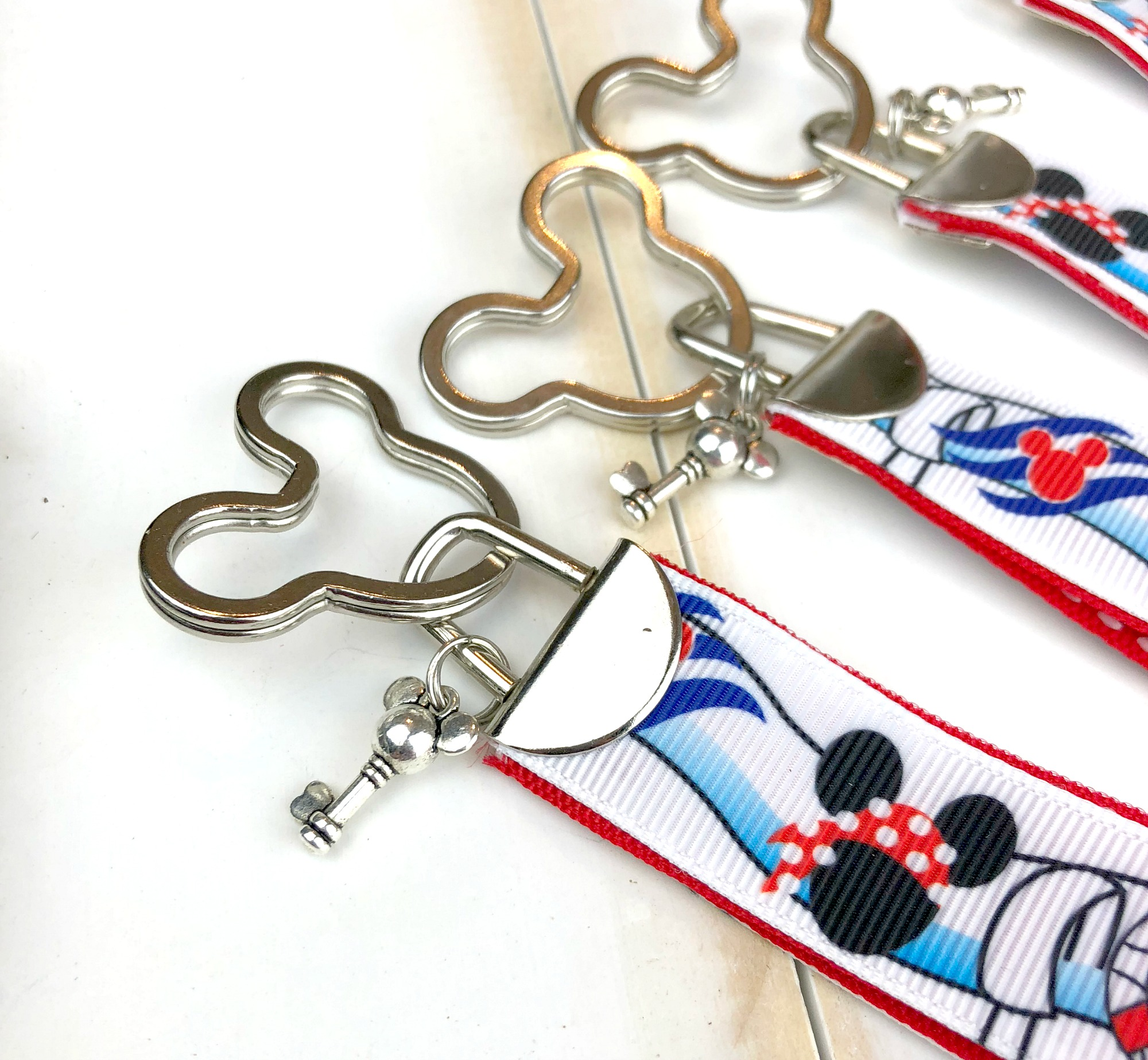 Mickey Mouse key ring and charm