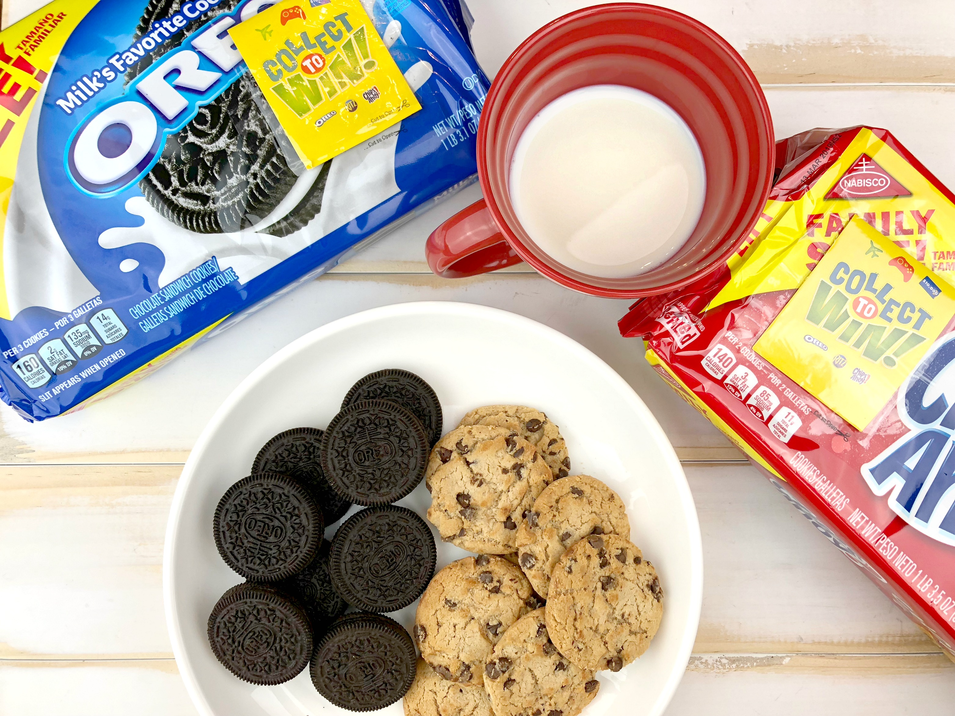 milk and Oreo cookies
