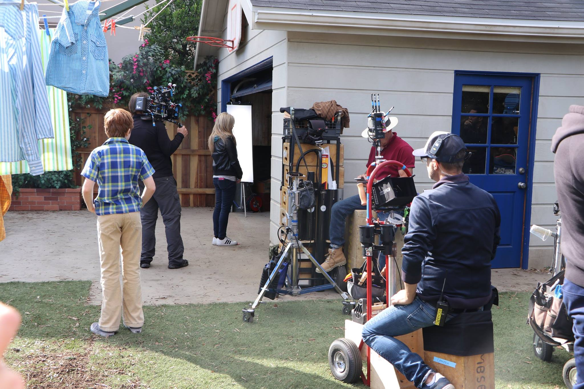 filming scene in The Kids Are Alright