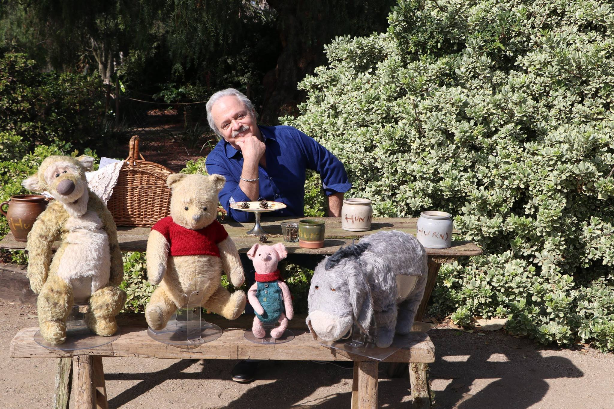 Jim Cummings with Winnie the Pooh and friends