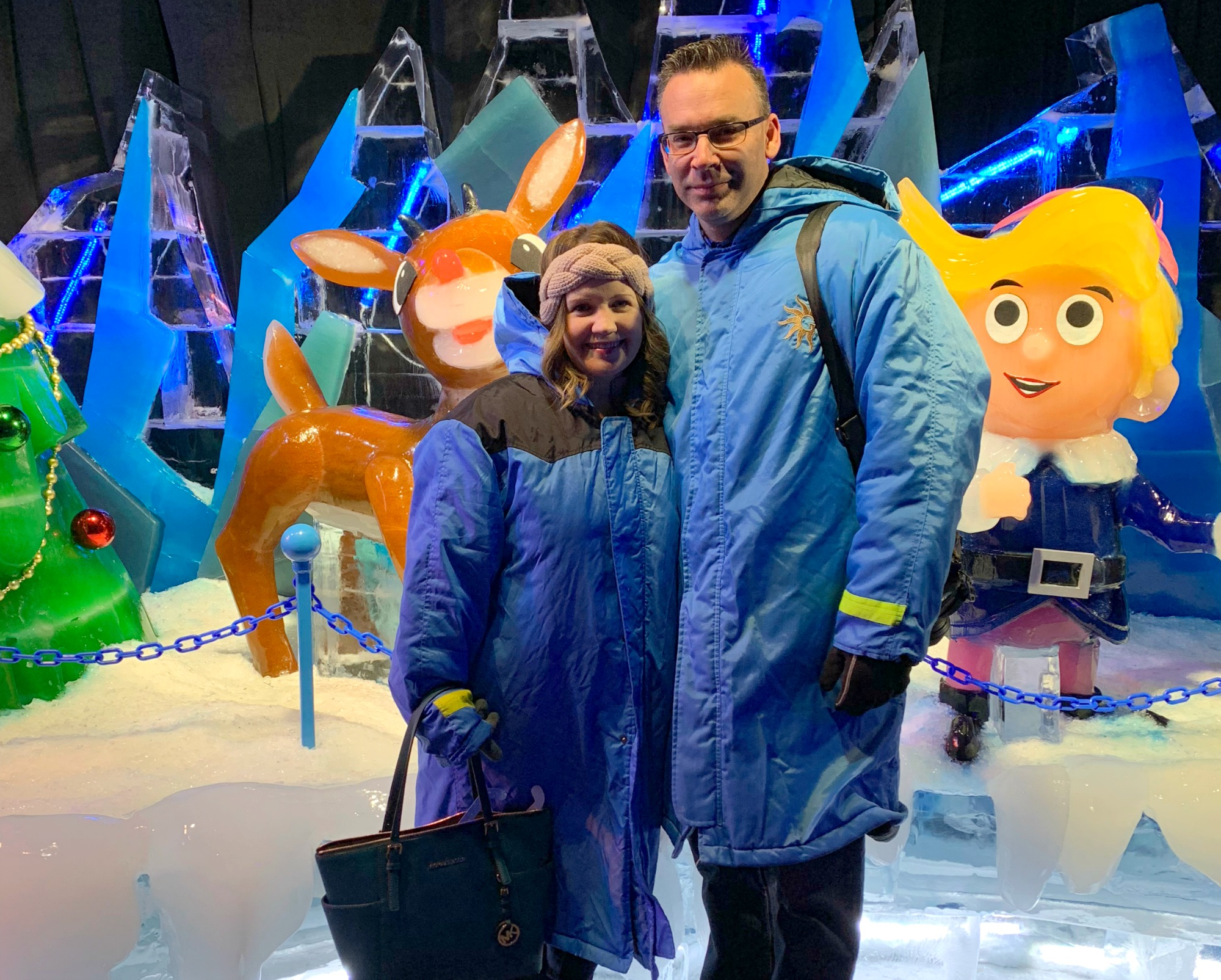 Dwan and Andrew at Gaylord Ice