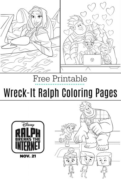 Ralph Breaks The Internet Coloring Pages + Movie Review