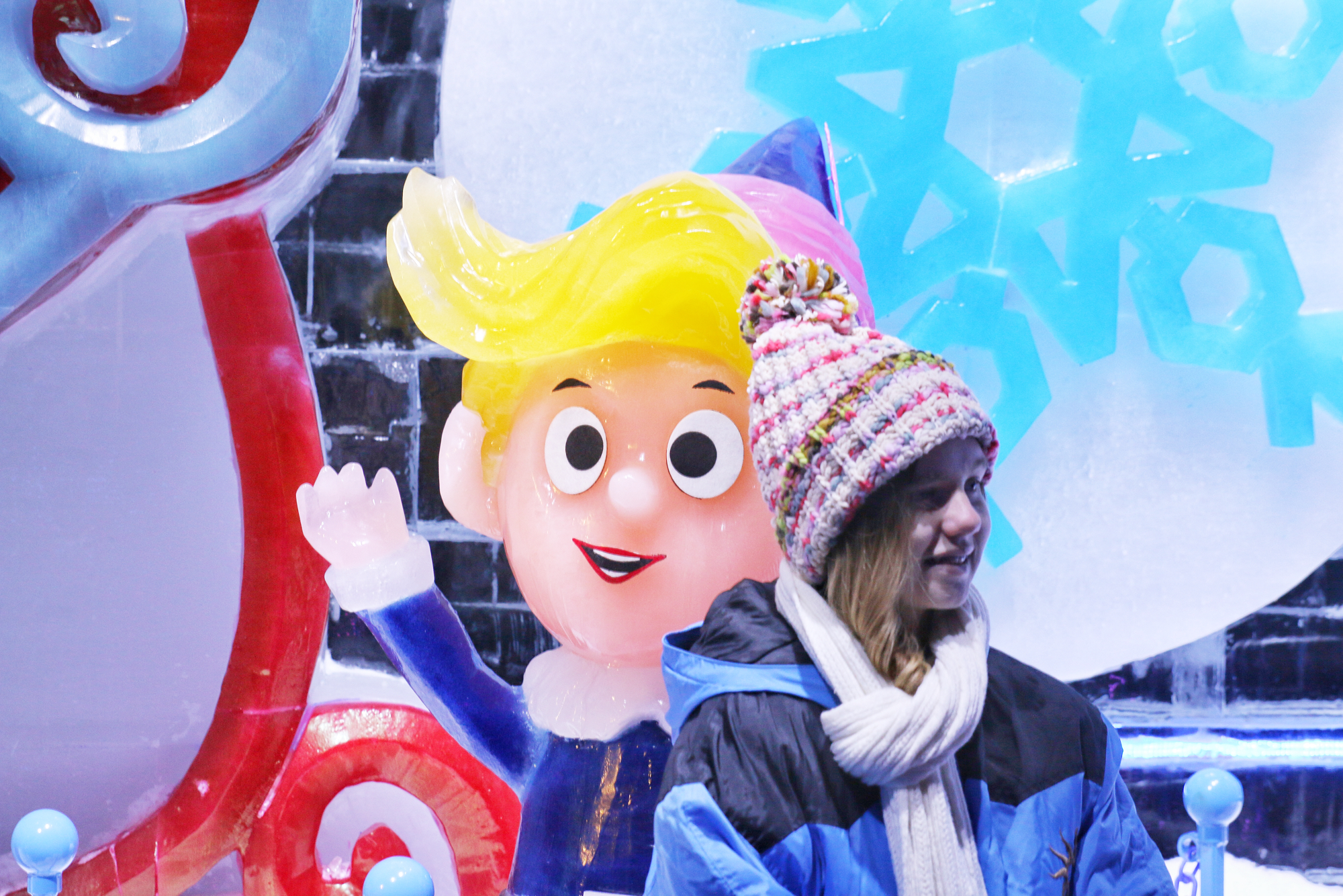 Gabby in Ice at Gaylord Texan exhibit