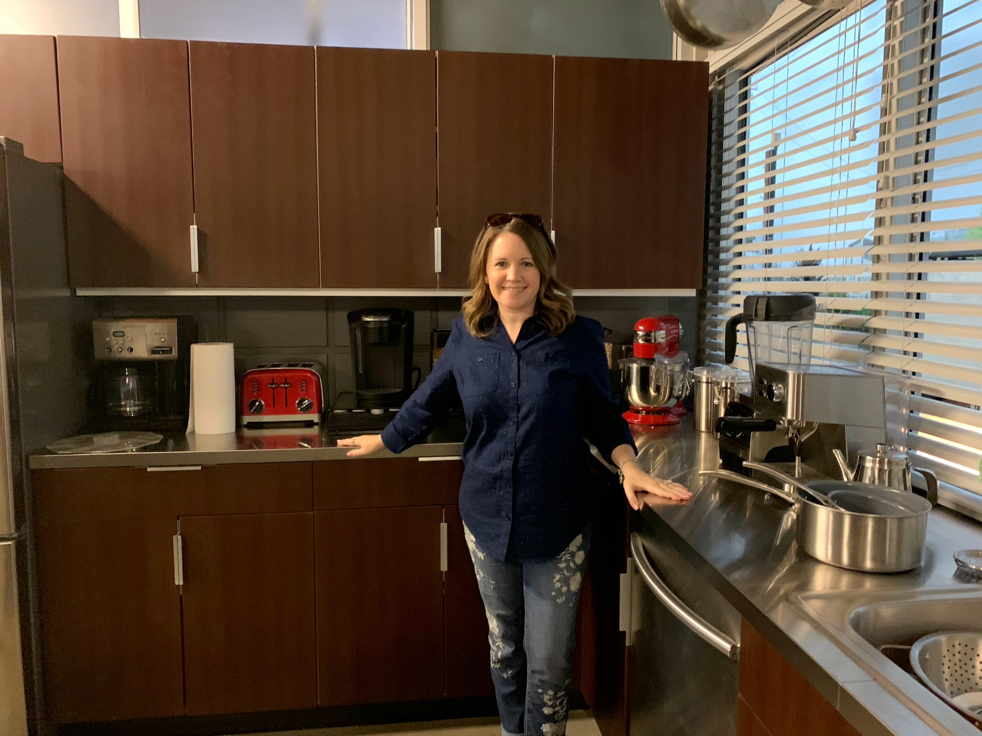 Kitchen on set of Station 19 TV show