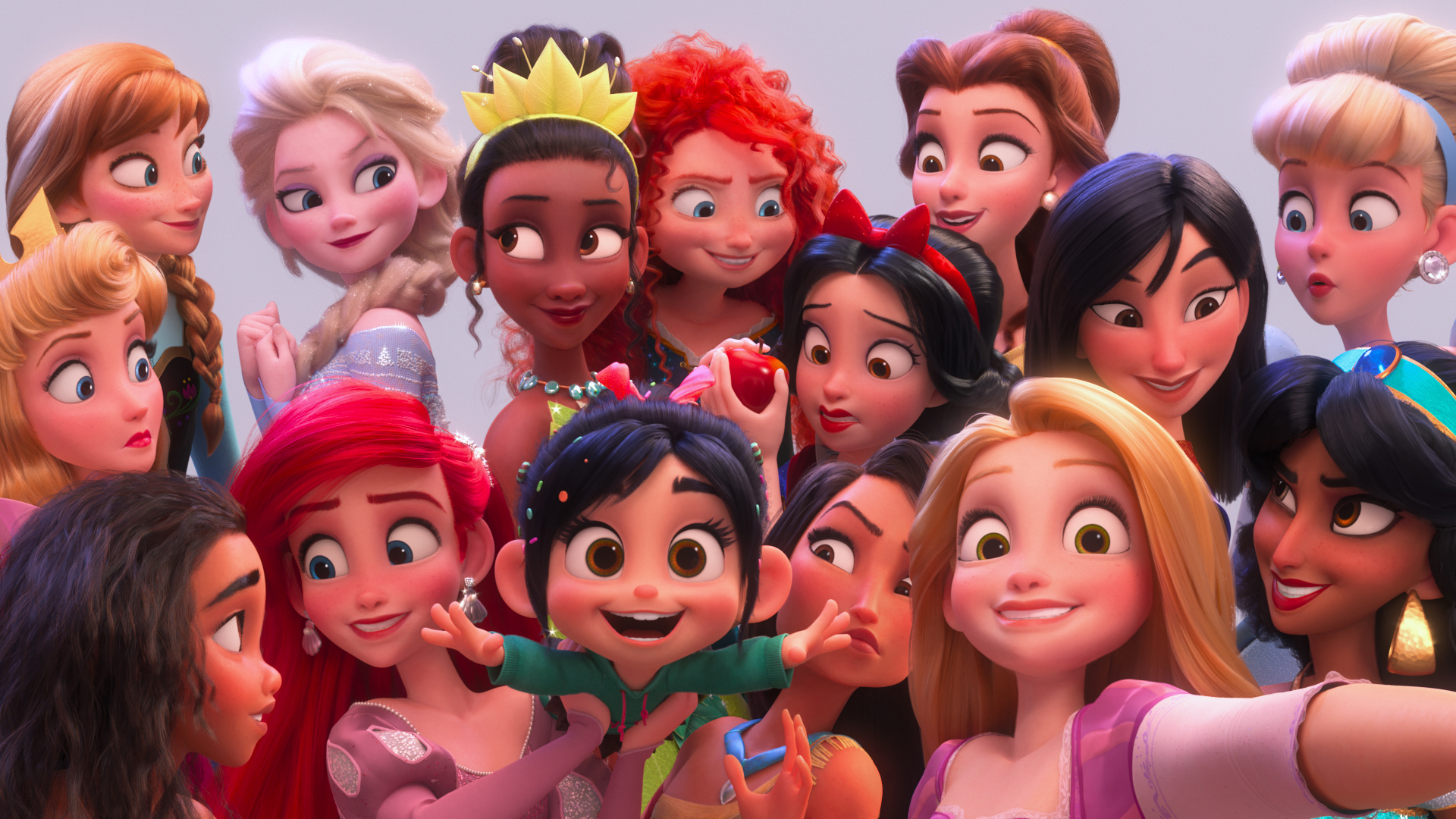 Vanellope con Princesas Disney