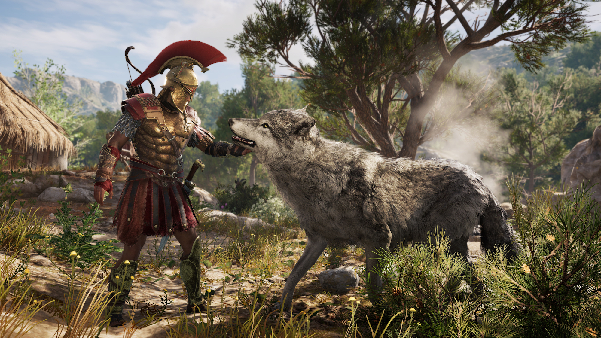 Assassin's Creed Odyssey pet wolf