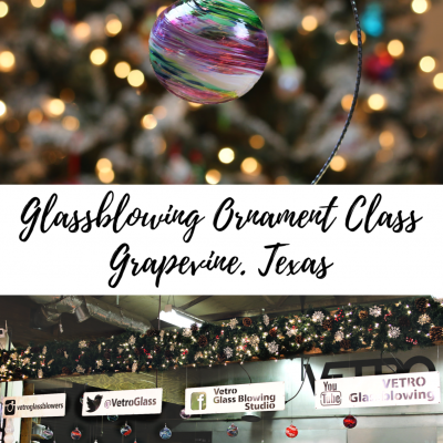 Glassblowing Christmas Ornament Class in Grapevine Texas